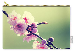 Carry-all Pouch featuring the photograph Cherry Blooms by Yulia Kazansky