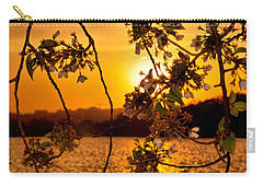 Carry-all Pouch featuring the photograph Cherry Blossom Sunset by Mitchell R Grosky