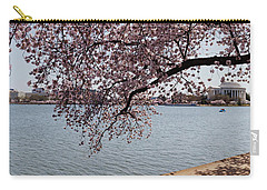Cherry Blossom Trees With The Jefferson Carry-all Pouch by Panoramic Images