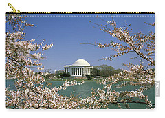 Cherry Blossom With Memorial Carry-all Pouch by Panoramic Images