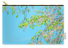 Cherry Blossoms Falling Carry-all Pouch