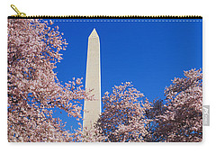 Cherry Blossoms Washington Monument Carry-all Pouch by Panoramic Images