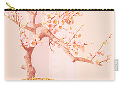 Cherry Bonsai Tree Carry-all Pouch by Marian Cates
