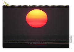 Cherry Drop Sunrise Carry-all Pouch by Dianne Cowen