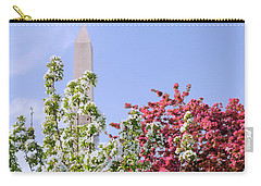 Cherry Trees And Washington Monument Four Carry-all Pouch