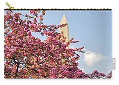 Cherry Trees And Washington Monument One Carry-all Pouch