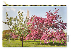 Cherry Trees And Washington Monument Three Carry-all Pouch