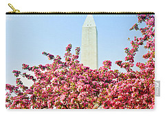Cherry Trees And Washington Monument Two Carry-all Pouch