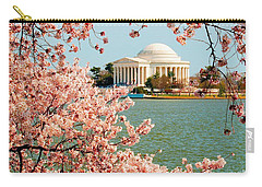 Cherry Trees At The Jefferson Carry-all Pouch by Nick Zelinsky