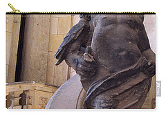 Carry-all Pouch featuring the photograph Cherub At The Entrance Of Zwinger Palace - Dresden Germany by Jordan Blackstone