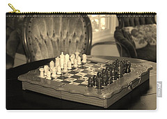 Carry-all Pouch featuring the photograph Chess Game by Cynthia Guinn