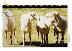Carry-all Pouch featuring the photograph Cheviot Sheep by Kathy Barney
