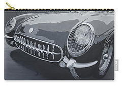 Carry-all Pouch featuring the painting Chevrolet Corvette 1954 by Anna Ruzsan