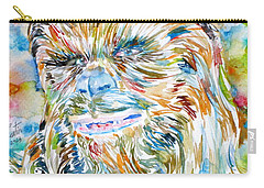 Chewbacca Watercolor Portrait Carry-all Pouch
