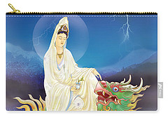 Carry-all Pouch featuring the photograph Chi Lin Kuan Yin by Lanjee Chee