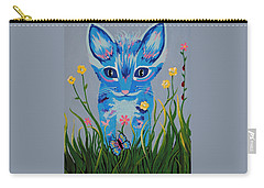 Carry-all Pouch featuring the painting Chibi by Kathleen Sartoris