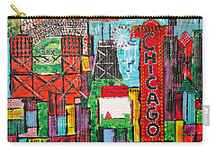 Chicago - City Of Fun - Sold Carry-all Pouch by George Riney