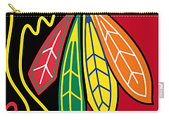 Chicago Blackhawks 2 Carry-all Pouch by Tony Rubino