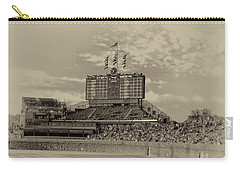 Chicago Cubs Scoreboard In Heirloom Finish Carry-all Pouch by Thomas Woolworth