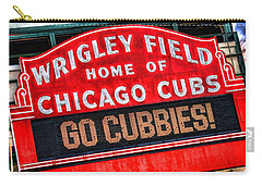 Chicago Cubs Wrigley Field Carry-all Pouch by Christopher Arndt