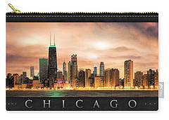 Chicago Gotham City Skyline Panorama Poster Carry-all Pouch by Christopher Arndt