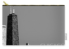 Chicago Hancock Building - Pewter Carry-all Pouch
