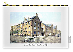 Chicago Illinois - Hull House - Halstead Avenue - 1906 Carry-all Pouch