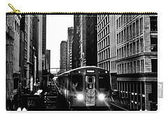 Chicago L Black And White Carry-all Pouch
