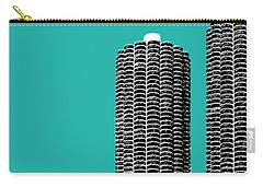 Chicago Skyline Marina Towers - Teal Carry-all Pouch