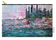Chicago Morning - Sold Carry-all Pouch by George Riney