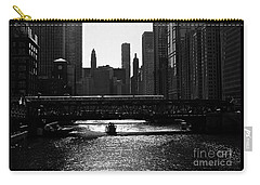 Chicago Morning Commute - Monochrome Carry-all Pouch
