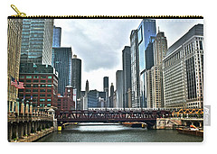 Chicago River And City Carry-all Pouch