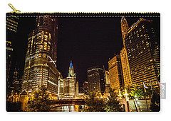 Chicago Riverwalk Carry-all Pouch by Melinda Ledsome