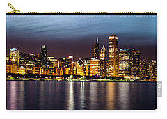 Chicago Skyline At Night Panoramic Carry-all Pouch