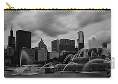 Carry-all Pouch featuring the photograph Chicago City Skyline by Miguel Winterpacht