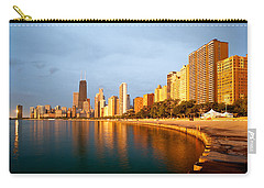 Carry-all Pouch featuring the photograph Chicago Skyline by Sebastian Musial