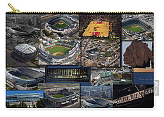 Chicago Sports Collage Carry-all Pouch by Thomas Woolworth