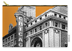 Chicago Theater - Dark Orange Carry-all Pouch