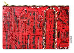 Chicago Theater Carry-all Pouch by George Riney