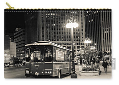 Chicago Trolly Stop Carry-all Pouch by Melinda Ledsome
