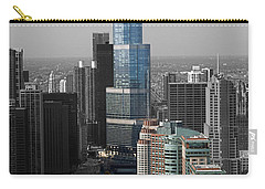 Chicago Trump Tower Blue Selective Coloring Carry-all Pouch by Thomas Woolworth