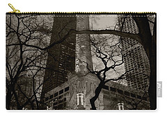 Chicago Water Tower B W Carry-all Pouch