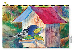 Chickadee Bungalow Carry-all Pouch by Teresa Ascone
