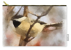 Carry-all Pouch featuring the painting Chickadee Watercolor by Kerri Farley