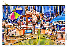 Chico Sail Boat By Diana Sainz Carry-all Pouch