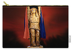 Chief Illiniwek University Of Illinois 06 Carry-all Pouch by Thomas Woolworth