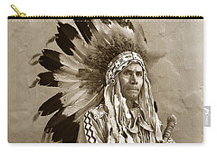 Chief Red Eagle Carmel California Circa 1940 Carry-all Pouch