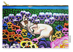 Chihuahua In Flowers Carry-all Pouch
