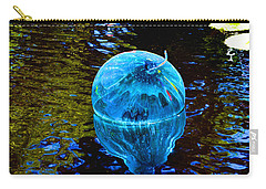 Artsy Blue Glass Float Carry-all Pouch