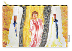 Child Being Escorted Into Heaven Carry-all Pouch by Cassie Sears